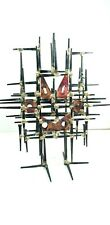 MCM Brutalist Nail Assemblage Art Cat in a cage tabletop sculpture Andre Munn