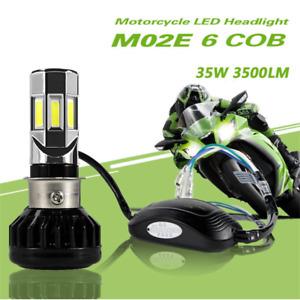 Motorcycle LED Headlight H4 HS1 P43T BA20D H6 S2 35W 6COB Hi/Lo Beam Front Light