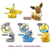 TTA Pokemon Useful mascot 3 Gashapon 5 set mini figure capsule toys