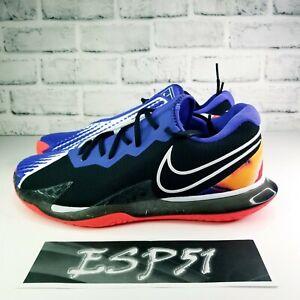 New Nike Court Air Zoom Vapor Cage 4 Blk/Purple/Crimson CD0424-003 Men Sz 10