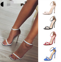 Women Sexy Ankle Strap High Heels Open Toe Stiletto Sandals Pump Club Party Shoe