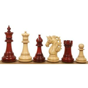 "4.6"" Spartacus Luxury Staunton Chess Pieces Only Set- Bud Rosewood Triple Weight"