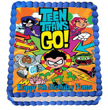 TEEN TITANS CAKE TOPPER PARTY IMAGE FROSTING SHEET