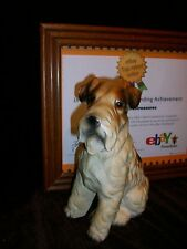 Vintage Mid Century Art Pottery Schnauzer Wire Haired Fox Terrier Dog Figure