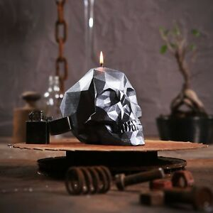 Skull Candle  - geometric, large, spooky, Halloween, gothic, emo
