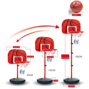 Enfant Panier De Basket Sur Pied Réglable De 40 à 150CM Jeu Jouet Ballon