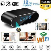 HD 1080P Surveillanc Wifi Camera Motion Security Alarm Clock IR Nanny Camera US