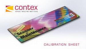"""New! Contex 42"""" Calibration Sheet for 4200 Series,4210, 4230, 4250, 4290, G600"""