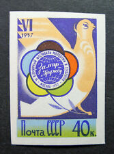 Russia 1957 #1913 MH OG 40k Russian Soviet Youth Festival Imperf Issue $30.00!!