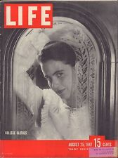 LIFE August 25,1947 College Clothes / Puerto Rican Migrants / Sparkle Plenty Dol