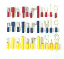 ELECTRICAL TERMINALS RED BLUE YELLOW WIRE CRIMP CONNECTORS INSULATED MALE FEMALE