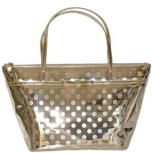 Kate Spade Camellia Street Sophie Large Gold Metallic Tote Bag Purse