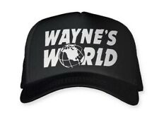 Wayne's World Hat Cap Trucker Hat Adjustable NEW Snap Back Black U.S SELLER!