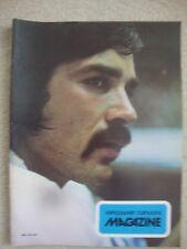 1973 VANCOUVER CANUCKS v ATLANTA FLAMES NHL PROGRAM.
