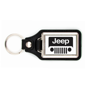 JEEP KEYCHAIN WITH WHITE BACKGROUND KEY CHAIN GRILL