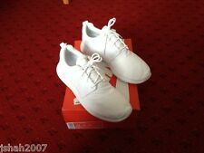 Nike Roshe Run Triple White Size UK 10 Brand New **LOOK**