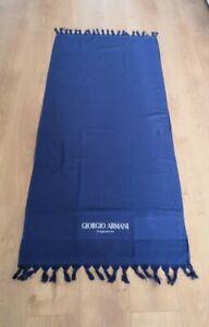Giorgio Armani Fragrance Navy Blue Beach / Bath Towel - 100% Cotton - Genuine