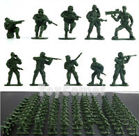 100 pcs Military Plastic Toy Soldiers Army Men Green 1:36 Figures 10 Poses