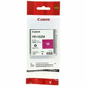GENUINE AUTHENTIC CANON PFI-102M MAGENTA INK CARTRIDGE 130ML 2021 DATE