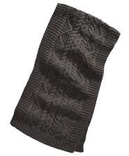$152 Steve Madden Men's Unisex Gray Chunky Textured Knit Muffler Scarf One Size