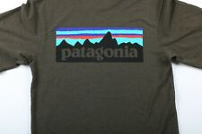 Patagonia Responsibili-Tee Big Logo Heather Green Size XS