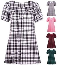 Checked Short Sleeve T-Shirts for Women