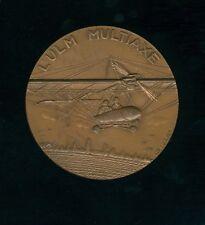 médaille par Gibert l'ultra léger motorisé ULM multiaxe le pendulaire 67mm