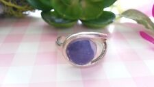 925 Sterling Silver *Size 7 *J078 Beautiful Vintage Gem Solid Band Ring Real