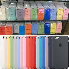 GENUINE Silicone Leder Case Silikon Hülle für Apple iPhone X 8 7 6 6s Plus Hot