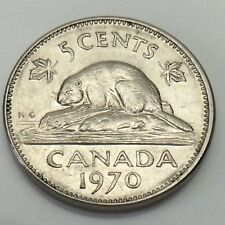 1970 Canada 5 Five Cents Canadian Nickel Circulated Coin E758