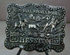 1987 Hesston NFR Rodeo Belt Buckle (Adult size)