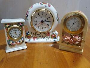 3 Floral Clocks