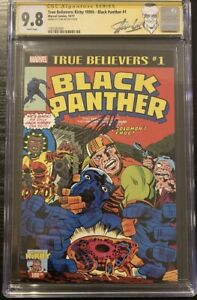 Black Panther #1 CGC 9.8 SS True Believers: Kirby 100th Stan Lee Signed LABEL