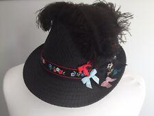 Trachtenhut Hut Damen schwarz rot neu Tracht Damenhut, ca 57 cm Umfang