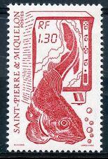 STAMP / TIMBRE SAINT PIERRE ET MIQUELON NEUF N° 490 LA PECHE POISSON