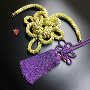 1Set JP New Modle Junction Produce Gold Kintsuna Purple Fusa Kiku Knot Ornaments