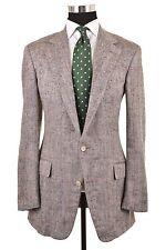 Polo Ralph Lauren Blue Gray Check Slubby Knotted SILK Sport Coat Jacket 42 L