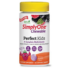 Super Nutrition (Now  Foods) Simply One PERFECT KIDS Multivitamin 30 Chewables