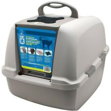 Extra Large Cat Litter Hooded Box Carbon Filter Tray Cats Toilet No Nasty Smells