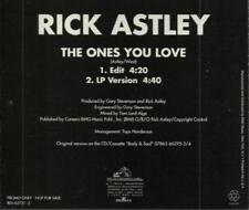 Rick Astley: The Ones You Love PROMO MUSIC AUDIO CD Edit & LP 2 track RCA 1993