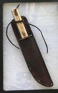 Handmade Hunting Knife with Leather Sheath