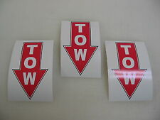 3 TOW RED Decal Stickers to Fit: Airplane Race Boat Drag Car Street Racer Drift