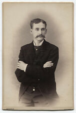CABINET CARD MAN IN CLOSED POSE, PIERCING EYES. TUNKHANNOCK, PA.