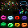 USB LED EL Wire Tube Neon Flexible Strip Glow Car Xmas Party Bar Decor Light NEW