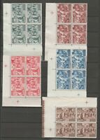 S37029 VATICANO 1951 MNH** CALCEDONIA block of 4  corner margin