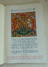 Vintage Book 1937 Coronation King George VI Queen Elizabeth Colour Illustrated