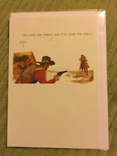 Funny, Cowboy Birthday Card, New And Sealed 99p 2nd Class Post