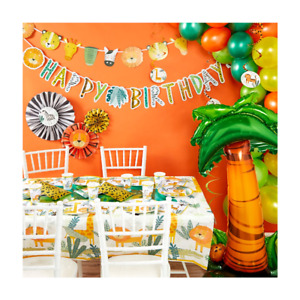 FIRST BIRTHDAY WILD ONE PARTY - SAFARI THEMED TABLEWARE AND DECORATIONS