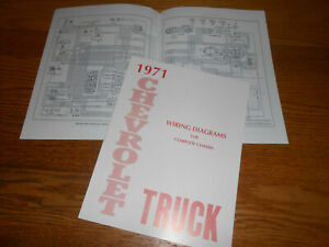 1971 CHEVROLET TRUCK WIRING DIAGRAM MANUAL / '71 CHEVY DIAGRAMS