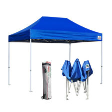Ez Pop Up Canopy 8x12 Blue Commercial Event Sports Party Tent Instant Shelter